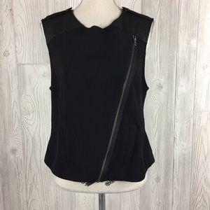 Sanctuary Black Moto Vest Size M
